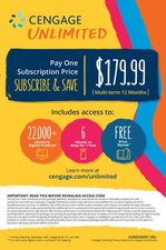 CENGAGE UNLIMITED-ONE YEAR (ACCESS CODE)