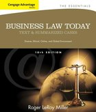BUSINESS LAW TODAY (W/OUT COURSEMATE ACCESS CARD) (P)
